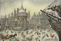 Christmas Card Amsterdam by Anton Pieck