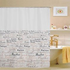A nice looking shower curtain can really make your bathroom a livelier looking and inviting room.