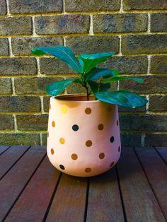 Points de plante dintérieur léger peint à la main par Fourbynine