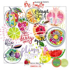 Be Fruity Elements and Brushes