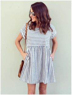 Take a look at the best casual dress for fall in the photos below and get ideas for your outfits! 15 cute Thanksgiving outfits with dresses Image source Look Fashion, Teen Fashion, Fashion Clothes, Dress Fashion, Fall Fashion, Fashion Pants, Fashion 2017, Fashion Fashion, Fashion Accessories