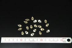 10pcs  plated luster gold brass part findings by 3yes on Etsy