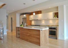 современная кухня дерево - Поиск в Google