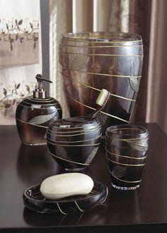Zephyr bath collection from anna 39 s linen shower curtain - Anna s linens bathroom accessories ...