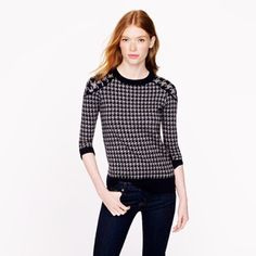 J. Crew Houndstooth Sweater Merino tippi sweater. Retail. J. Crew Sweaters