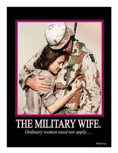 it takes a special women to be a military spouse