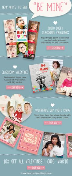 New Valentine's Day Card Ideas from Pear Tree Greetings!! #valentinesdayideas #peartreegreetings #valentines
