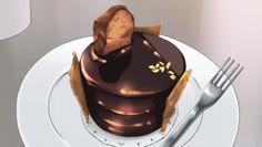 A fancy chocolate dessert!Shirobako, Episode 8