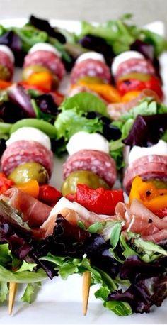 Antipasto Salad Kabobs - Mantitlement