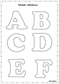 Risultati immagini per as letras do alfabeto para imprimir Alphabet Letter Templates, Printable Letters, Felt Patterns, Applique Patterns, Felt Crafts, Diy And Crafts, Bubble Drawing, Bubble Letters, 3d Letters