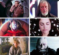 First and Last scenes Anakin and Padme and Obi Wan #starwars tumblr