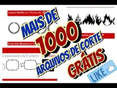 1000 arquivos de corte grátis - Silhouette /1000 free cutting files - Si...