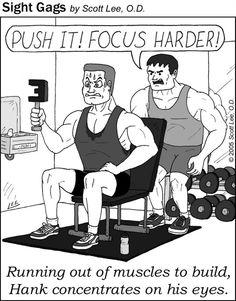 Work those eye muscles!!! #optical #humor #funny