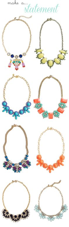 Make a Statement -- J. Crew Statement Necklaces 30% Off