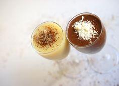 שוקולד שוטס שוט חם ומתוק בטעם משכר של שוקולד מריר או לבן.