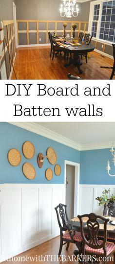 DIY Board and Batten wall Treatment