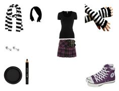 anna blue style 1 by mayleneholm on Polyvore featuring Splendid, Hell Bunny, Converse, Michael Kors, By Terry and Barry M Blue Fashion, Emo Fashion, Anna Blue, Emo Style, Blue Style, Barry M, Bunny, Converse, Michael Kors