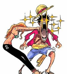"""luffy-and-nami-forever: """"Luffy: SUGEEEE! Nami: … Gotta love Luffy xD """" oh luffy you silly goose go to the source Manga Anime, Film Manga, Comic Manga, Anime Comics, Manga Art, One Piece Ship, One Piece World, One Piece Luffy, One Piece Manga"""
