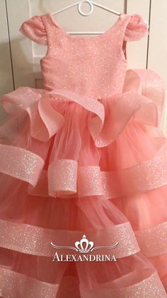 Baby Girl Dresses Fancy, Pink Dresses For Kids, Baby Girl Dress Design, Baby Tutu Dresses, Baby Girl Birthday Dress, Baby Girl Frocks, Wedding Dresses For Girls, Flower Girl Dresses, Baby Princess Dress