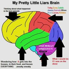 "This drawing of a PLL brain: | 21 Things You'll Only Find Funny If You Watch ""Pretty Little Liars"""