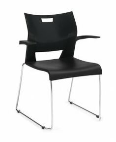Global Duet Armchair. Steel rod frame. Sled base. SKU: 6620 Our mission is to produce products of world class design that the average person can afford. Global offers a very broad range of products and services to meet the needs of today's changing workplace. Can be stacked 5 high for easy storage. Durable black finish on tubular steel frame. Availability: 1 Available Color(s) Pricing: $138.31