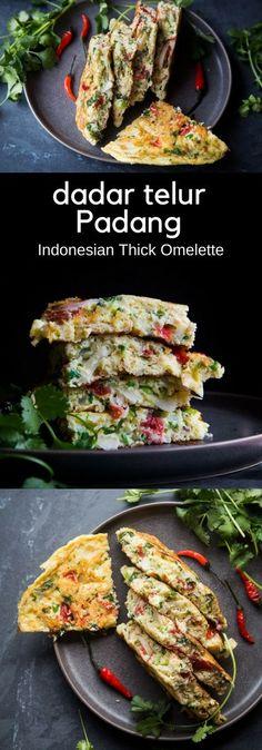 Indonesian Thick Omelette (Telur Dadar Padang). Ea…