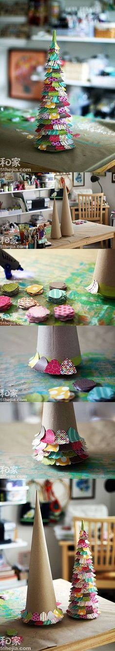 DIY Colorful Paper Christmas Tree DIY Colorful Paper Christmas Tree by diyforever