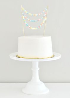 Candy Necklace Bunting for Cake