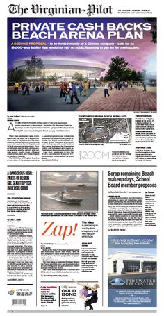 The Virginian-Pilot's front page for Tuesday, Feb. 18, 2014.