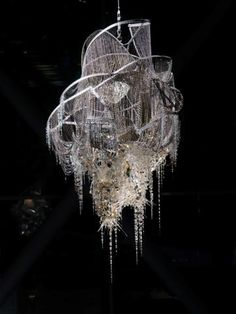 Lee Bul - crystal chandelierngly clean it.