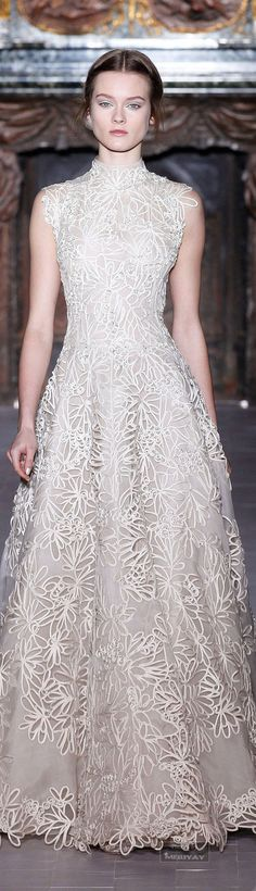 ♔Valentino♔ Gorgeous! Volume and bling aren't everything... sometimes, it's about the line and a truly beautiful fabric