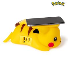 This unique wireless Pikachu smartphone charger is an official licensed product approved by The Pokémon Company. As for our whole product range, our care for great design and our dedication resulted in this Pikachu charger. Simply put your phone on its tail and the Pokémon will recharge it through induction power (for Pikachu, Pokemon, Bandai Namco Entertainment, Plugs, Charger, Usb, Smartphone, Range