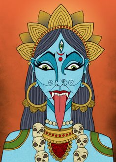 Kali the goddess By Esuda