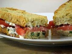 Feta Basil Sandwiches