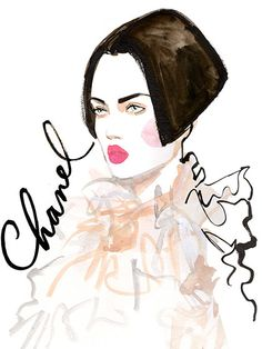 Couture Fashion Week 2015 - Chanel Illustration