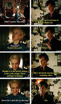 As much as I love sherlock and watsons friendship, I adore sherlock and mrs watsons friendship even more.