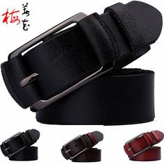 Aliexpress.com : Buy Newest Fashion Style Designer Belts For Men High Quality  Genuine Leather Belt Classic Cowskin Pin Buckle Strap Cintos from Reliable belt macrame suppliers on YanYang International Company Ltd. Waist Belts, Designer Belts, New Fashion, Macrame, Classic, Leather, Stuff To Buy, Men, Accessories