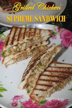 Super easy and delicious sandwich recipe which not only easy to make but taste amazing. Perfect to put in your kids lunch box. Grilled Sandwich Recipe, Grilled Chicken Sandwiches, Chicken Sandwich Recipes, Delicious Sandwiches, Chicken Supreme, Yummy Food, Yummy Recipes, Dinner Recipes