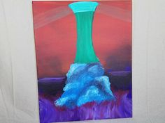Lighthouse, strange art, weird art, freaky art, alternative art, scenic art, hippy art, trippy art, Stoner art, 18×20 acrylic canvas. This my take on a light house 18×20 acrylic on canvas.