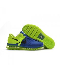 hot sale online e673a 2fdbc Nike Air Max 2017 KPU Mens Running Shoes Blue Green top brand usa wholesale  online, Nike Air Max 2060 sui yi xia dream, love is dedication!