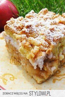 """""""Królewska szarlotka"""" 4 szklanki mąka, 3 sztuki żółtko… na Stylowi.pl Polish Desserts, Polish Recipes, Cookie Desserts, Cookie Recipes, Dessert Recipes, Apple Recipes, Sweet Recipes, Gateaux Cake, Sweets Cake"""
