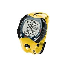 Sigma RC 14.11 Running Computer Sports Heart Rate Monitor Digital Watch - Yellow (Refurbished). Heart Rate, Pace, Distance. Zone indicator, Zone Alarm. Programmable zone,. Lap counter(99), Backlight, Waterproof; Calorie Counter, Ave HR, Current HR, Max HR. Includes docking station and SIGMA DATA CENTER software.
