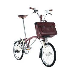 The Brompton Bike 15 inch Batchel in Leather | The Cambridge Satchel Company