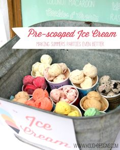 how to prescoop ice cream for your next summer soiree