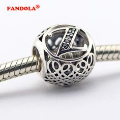 Vintage Letter Z Beads Fit Pandora Charms Silver 925 Original Bracelet Fashion Charm Beads for DIY Jewelry Making LE015-Z
