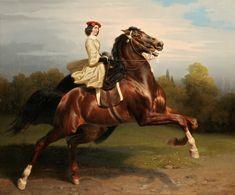 Carl Wahlbom, Ryttarinna, Nice bright tam with great beige jacket (flared… Art Painting, Equestrian Art, Illustration Art, Animal Art, Painted Pony, Classic Art, Art, Horse Art, Animal Paintings