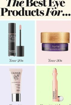 The best eye products for your 20's, 30's, 40's and more: from eye creams to wrinkle reducers #SkinCream