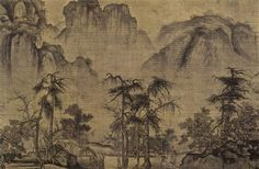 Clearing Autumn Skies over Mountains and Valleys (detail) - Guo Xi - - Northern Song Dynasty (Shan Shui) - 1072