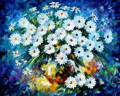 BLUE-FLOWERS-by-Leonid-Afremov