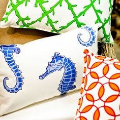 Colorful throw pillows make for a happy home